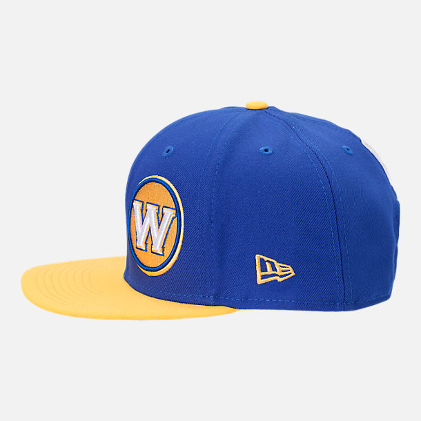 Back view of New Era Golden State Warriors NBA Y2K Double Whammy 9FIFTY Snapback Hat in Team Colors