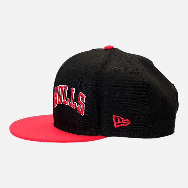 Back view of New Era Chicago Bulls NBA Y2K Double Whammy 9FIFTY Snapback Hat in Team Colors