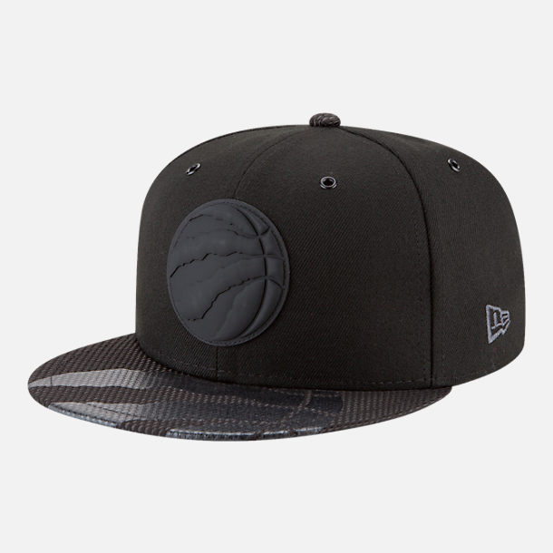 Front view of New Era Toronto Raptors NBA All-Star Series Snapback Hat in Black