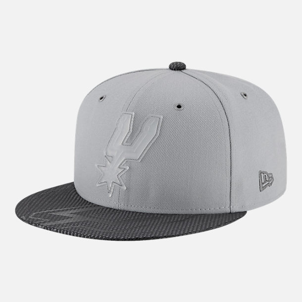 Front view of New Era San Antonio Spurs NBA All-Star Series Snapback Hat in Grey