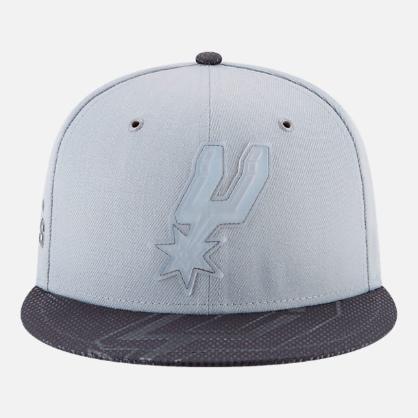 Back view of New Era San Antonio Spurs NBA All-Star Series Snapback Hat in Grey