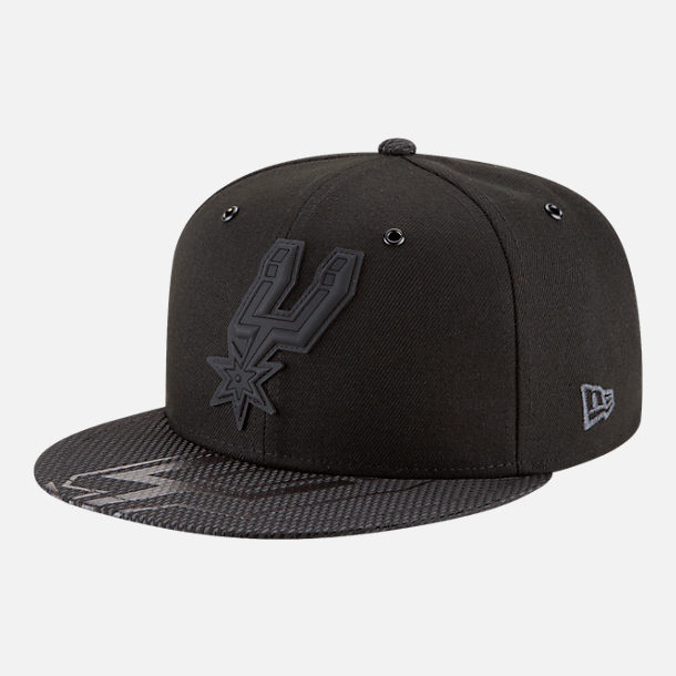 Front view of New Era San Antonio Spurs NBA All-Star Series Snapback Hat in Black