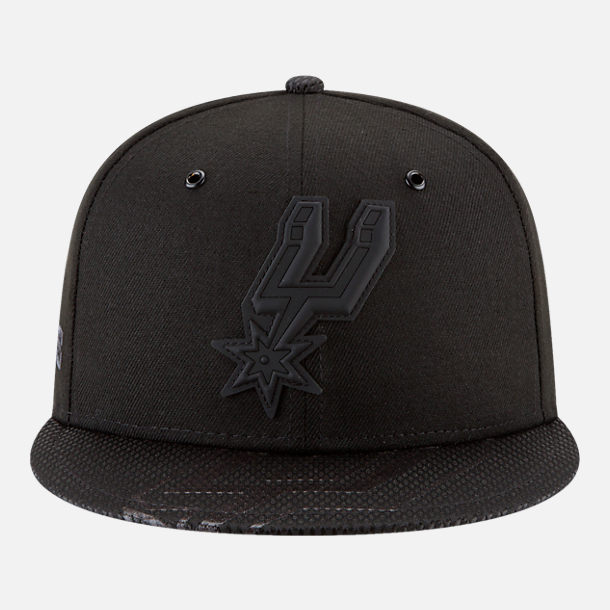 Back view of New Era San Antonio Spurs NBA All-Star Series Snapback Hat in Black