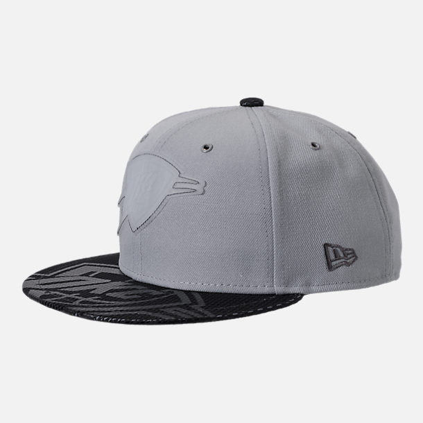 Front view of New Era Oklahoma City Thunder NBA All-Star Series Snapback Hat in Grey