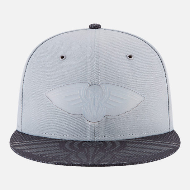 Back view of New Era New Orleans Pelicans NBA All-Star Series Snapback Hat in Grey