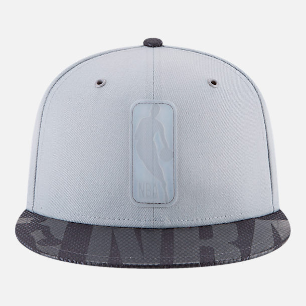 Back view of New Era NBA Logo Man All-Star Series Snapback Hat in Grey