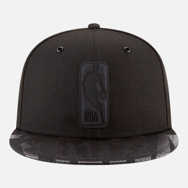Back view of New Era NBA Logo Man All Star Series Snapback Hat in Black