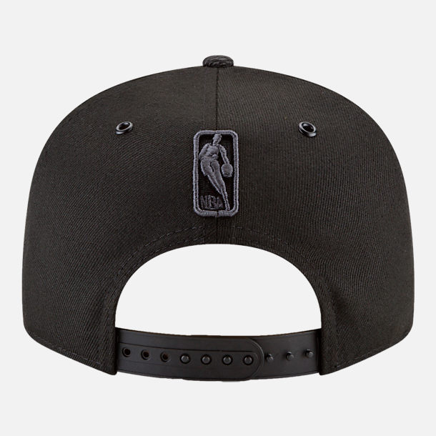 Alternate view of New Era NBA Logo Man All Star Series Snapback Hat in Black