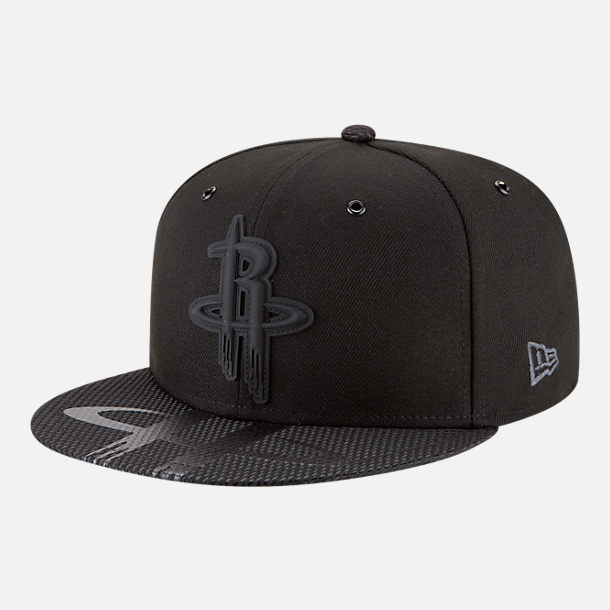 Front view of New Era Houston Rockets NBA All-Star Series Snapback Hat in Black