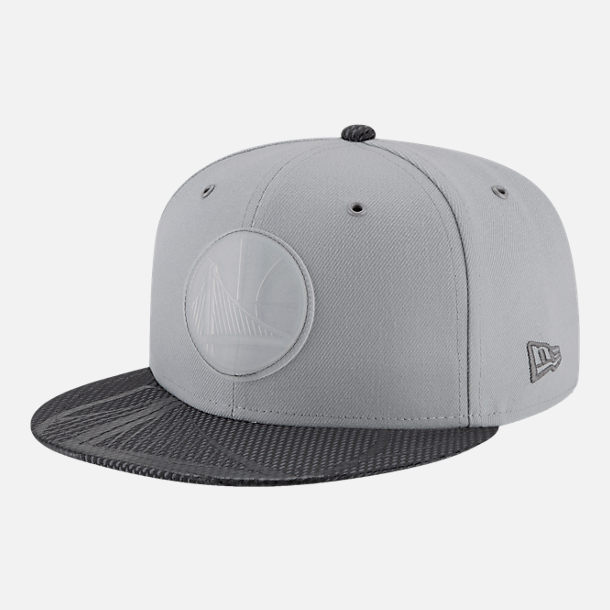 Front view of New Era Golden State Warriors NBA All-Star Series Snapback Hat in Grey