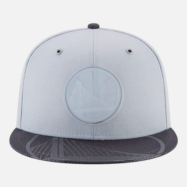 Back view of New Era Golden State Warriors NBA All-Star Series Snapback Hat in Grey
