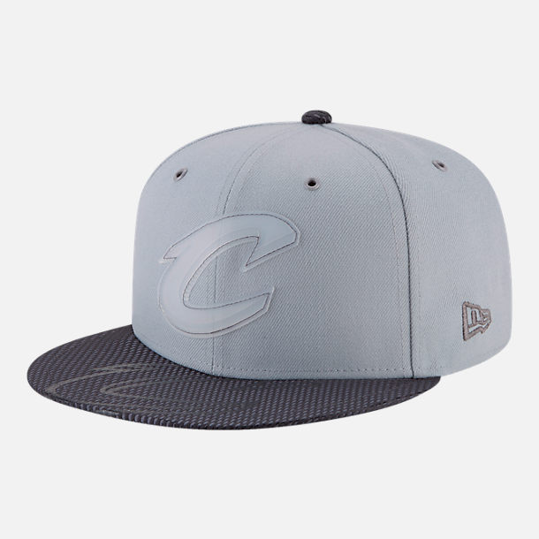 Front view of New Era Cleveland Cavaliers NBA All-Star Series Snapback Hat in Grey