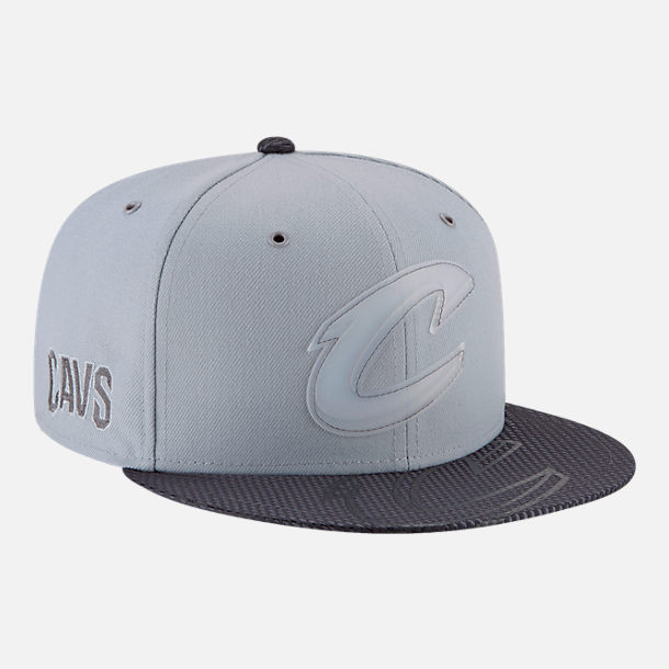 Back view of New Era Cleveland Cavaliers NBA All-Star Series Snapback Hat in Grey