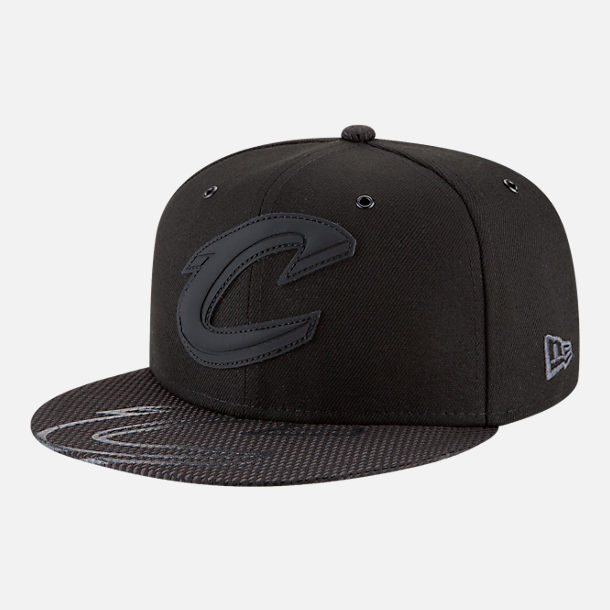 Front view of New Era Cleveland Cavaliers NBA All-Star Series Snapback Hat in Black