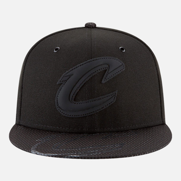 Back view of New Era Cleveland Cavaliers NBA All-Star Series Snapback Hat in Black
