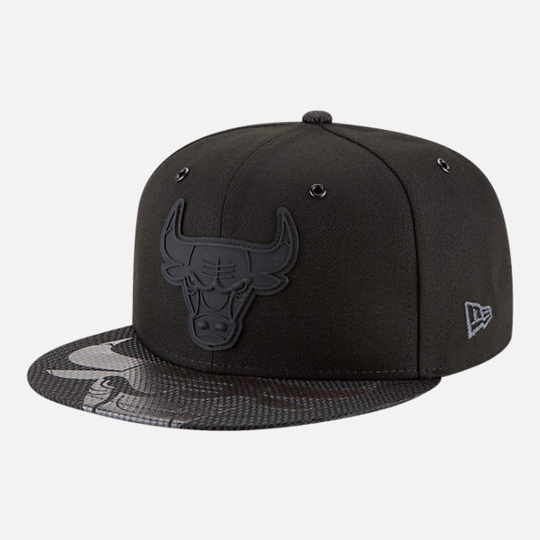 Front view of New Era Chicago Bulls NBA All-Star Series Snapback Hat in Black