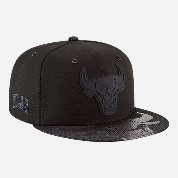 Alternate view of New Era Chicago Bulls NBA All-Star Series Snapback Hat in Black