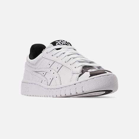 Three Quarter view of Men's Asics Onitsuka Tiger x Disney GEL-PTG Mickey Mouse Casual Shoes in White/White