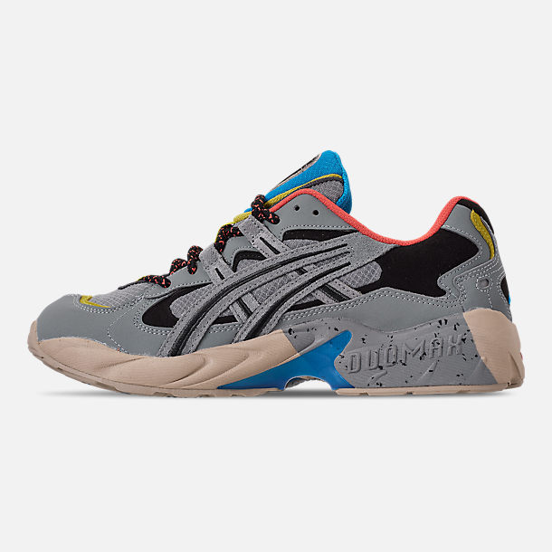 Left view of Men's Asics GEL-Kayano 5 OG Casual Shoes in Grey/Multi
