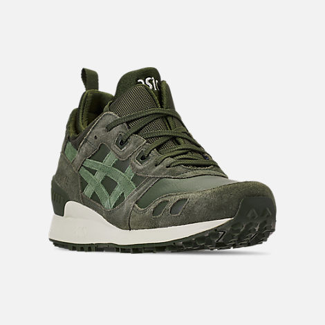 Three Quarter view of Men's Asics Gel-Lyte MT Casual Shoes in Forrest/Moss