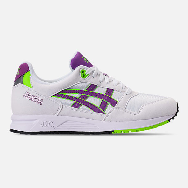 Right view of Men's Asics GEL-Saga Casual Shoes in White/Orchid