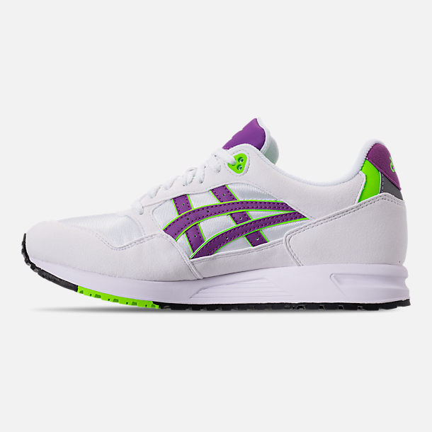 Left view of Men's Asics GEL-Saga Casual Shoes in White/Orchid