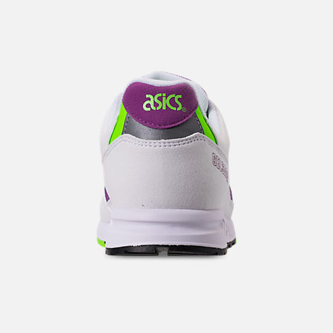 Back view of Men's Asics GEL-Saga Casual Shoes in White/Orchid