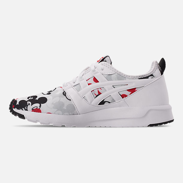 Left view of Boys' Big Kids' Asics Onitsuka Tiger x Disney GEL-Hikari Mickey Mouse Casual Shoes in White/White