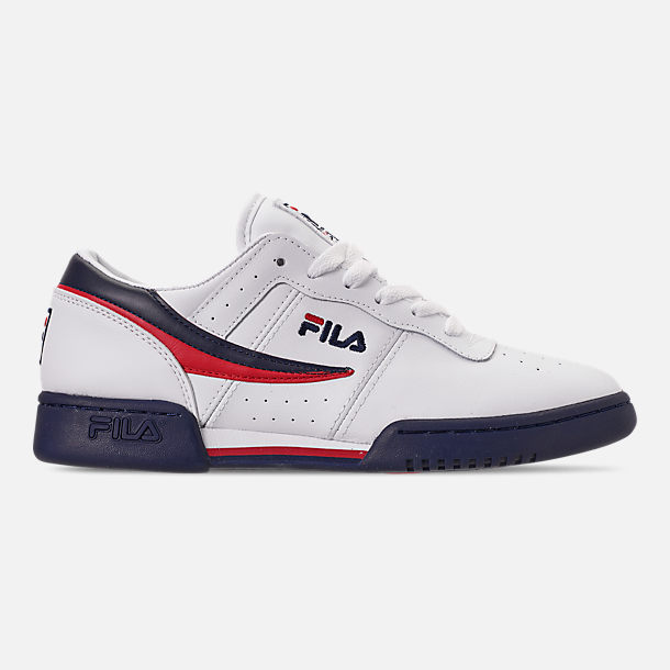 Right view of Men's FILA Original Fitness Casual Shoes in White/Navy/Red