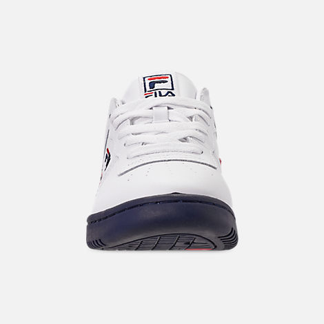 Front view of Men's FILA Original Fitness Casual Shoes in White/Navy/Red