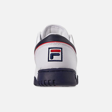 Back view of Men's FILA Original Fitness Casual Shoes in White/Navy/Red