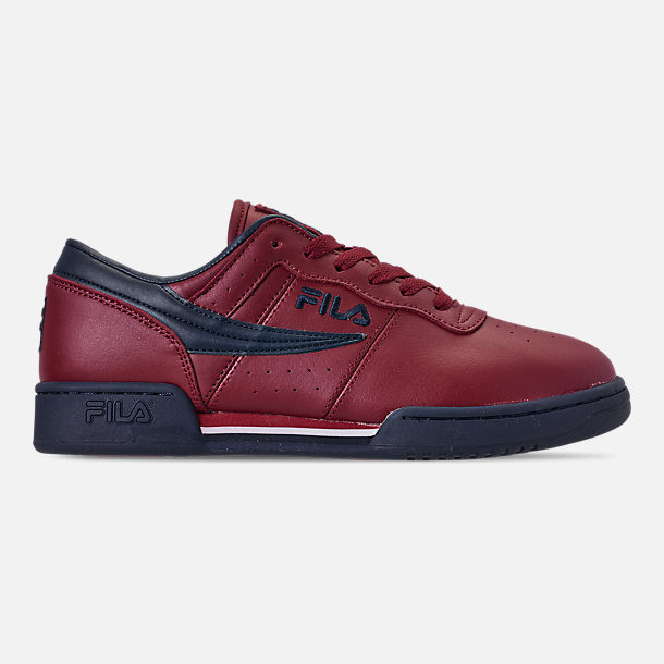 Right view of Men's FILA Original Fitness Casual Shoes in Red/Navy/White