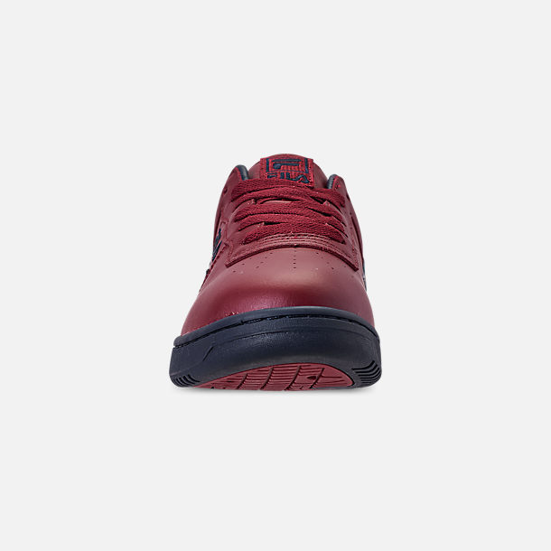 Front view of Men's FILA Original Fitness Casual Shoes in Red/Navy/White