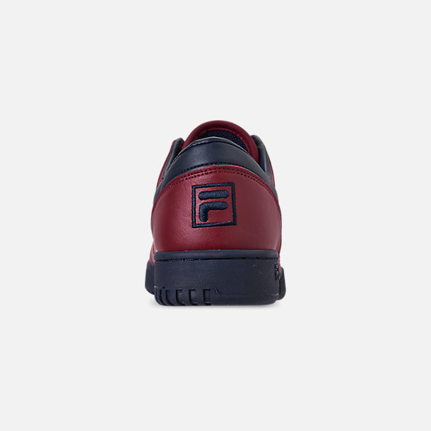 Back view of Men's FILA Original Fitness Casual Shoes in Red/Navy/White
