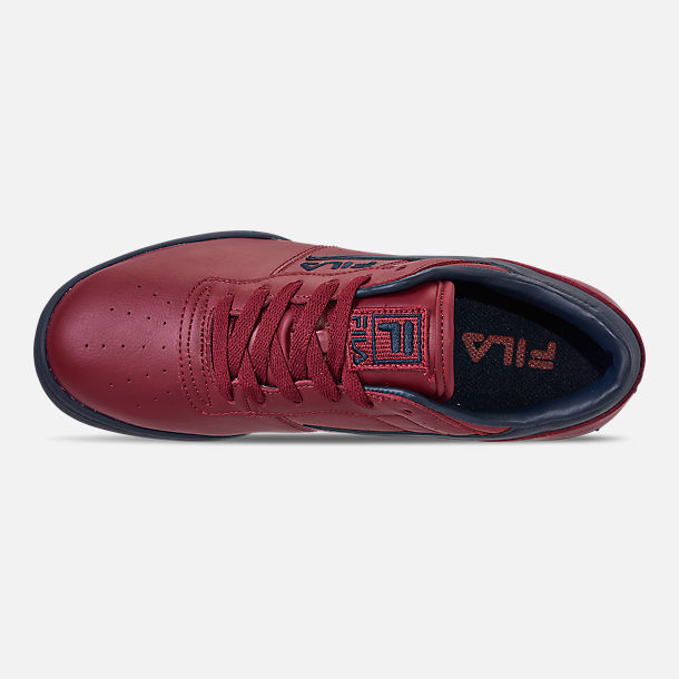 Top view of Men's FILA Original Fitness Casual Shoes in Red/Navy/White