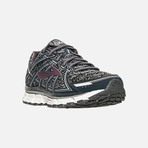 8f73d6c9abf Three Quarter view of Women s Brooks Adrenaline 17 GTS Running Shoes in Metallic  Charcoal Black