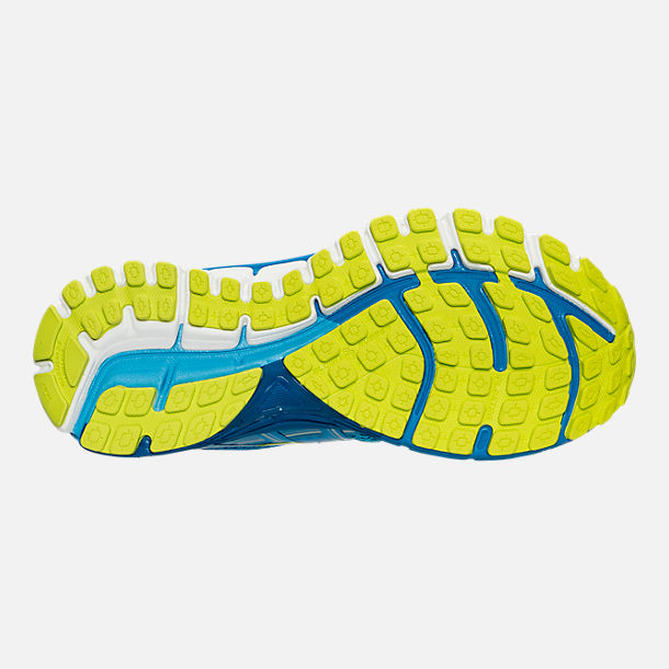 Bottom view of Women's Brooks Adrenaline 17 GTS Running Shoes in Azure Blue/Palace Blue/Lime Punch