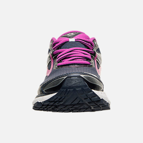 Front view of Women's Brooks Ravenna 8 Running Shoes in Peacoat/Purple Cactus Flower