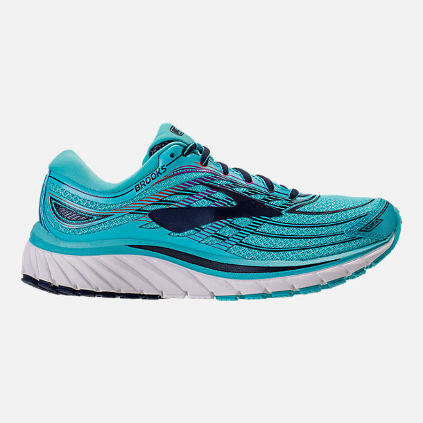 Right view of Women's Brooks Glycerin 15 Running Shoes in Capri/Evening Blue/Purple Cactus Flower