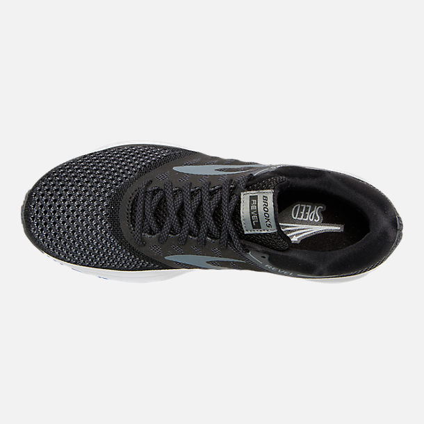 Top view of Women's Brooks Revel Running Shoes in Black/Anthracite/White