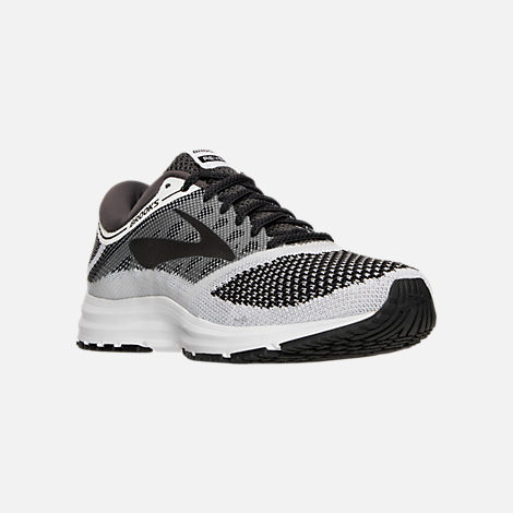 Three Quarter view of Women's Brooks Revel Running Shoes in White/Anthracite/Black