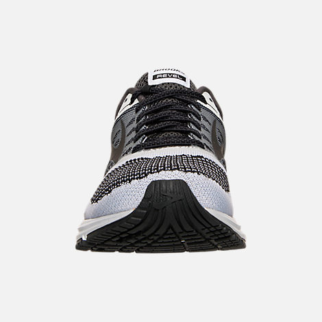 Front view of Women's Brooks Revel Running Shoes in White/Anthracite/Black