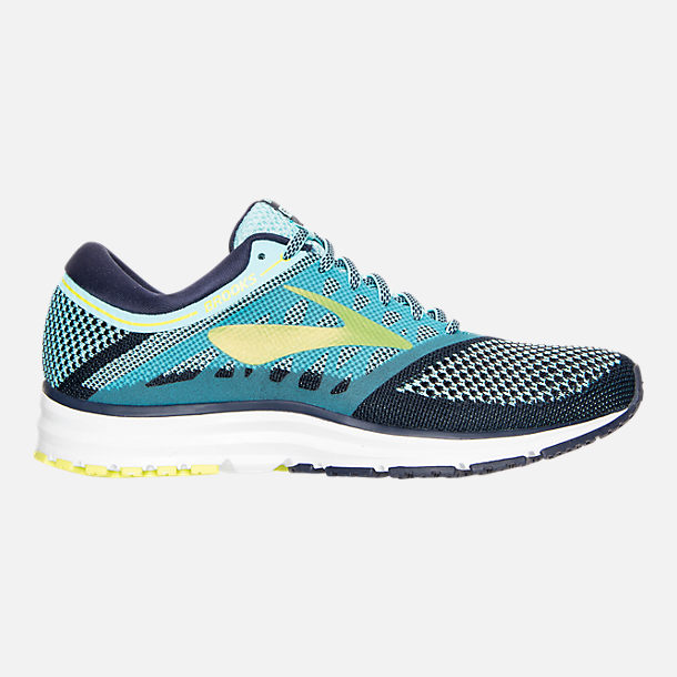 Right view of Women's Brooks Revel Running Shoes in Teal/Navy/Yellow