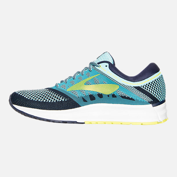Left view of Women's Brooks Revel Running Shoes in Teal/Navy/Yellow