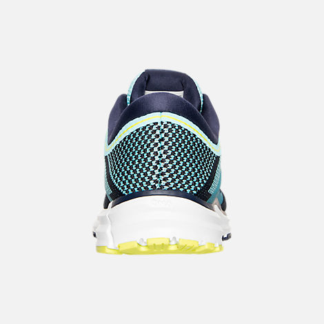 Back view of Women's Brooks Revel Running Shoes in Teal/Navy/Yellow