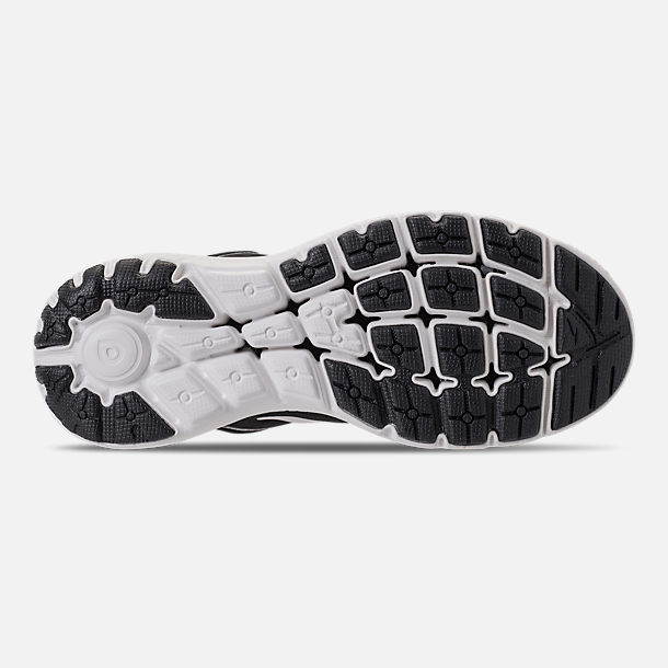 Bottom view of Women's Brooks PureFlow 7 Running Shoes in Black/White