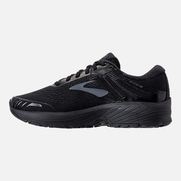 Left view of Women's Brooks Adrenaline GTS 18 Running Shoes in Black/Black