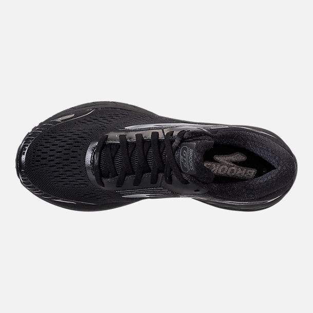 Top view of Women's Brooks Adrenaline GTS 18 Running Shoes in Black/Black