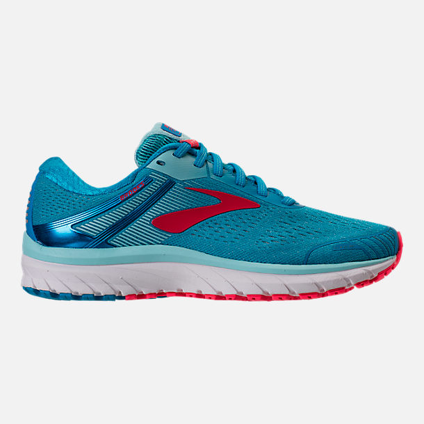 Right view of Women's Brooks Adrenaline GTS 18 Running Shoes in Blue/Mint/Pink