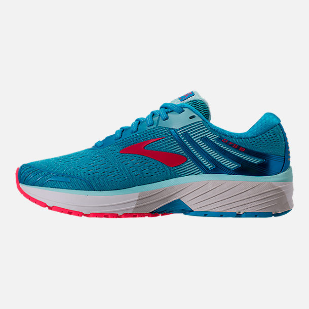 Left view of Women's Brooks Adrenaline GTS 18 Running Shoes in Blue/Mint/Pink